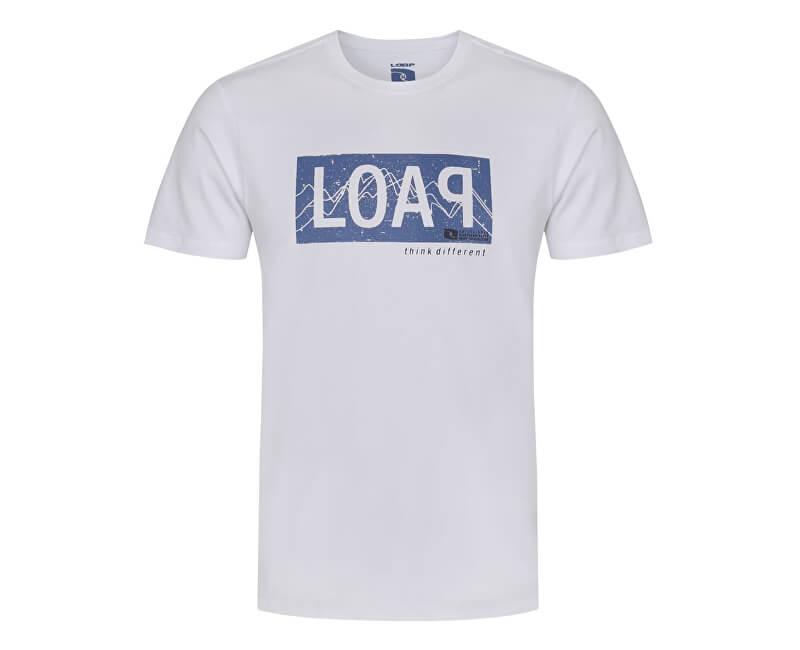 LOAP Pánské triko s krátkým rukávem Akron Brg White bílá CLM1778-A14A