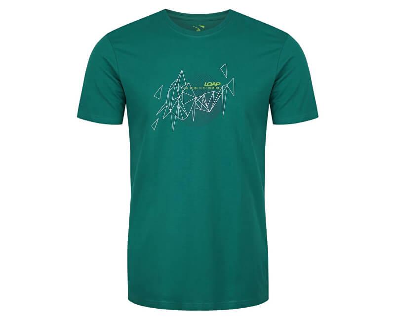 33a00e27076f LOAP Pánske tričko s krátkym rukávom Atol Lu Meadow zelená CLM1779-P21P