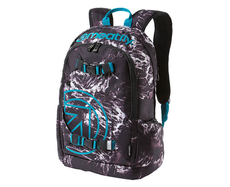 Meatfly Batoh Basejumper 3 Backpack B - Waves Print