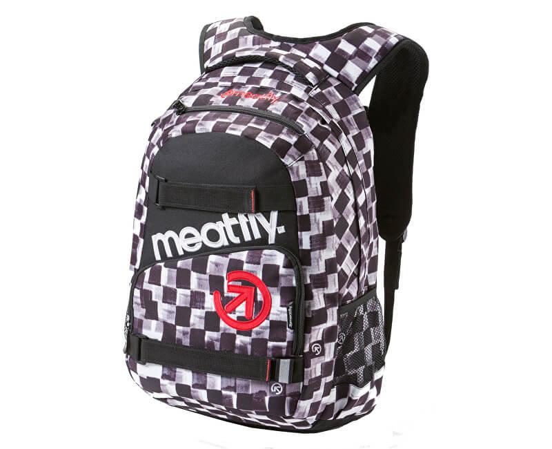 Meatfly Batoh Exile 2 Backpack E - Cross Check Print, Black