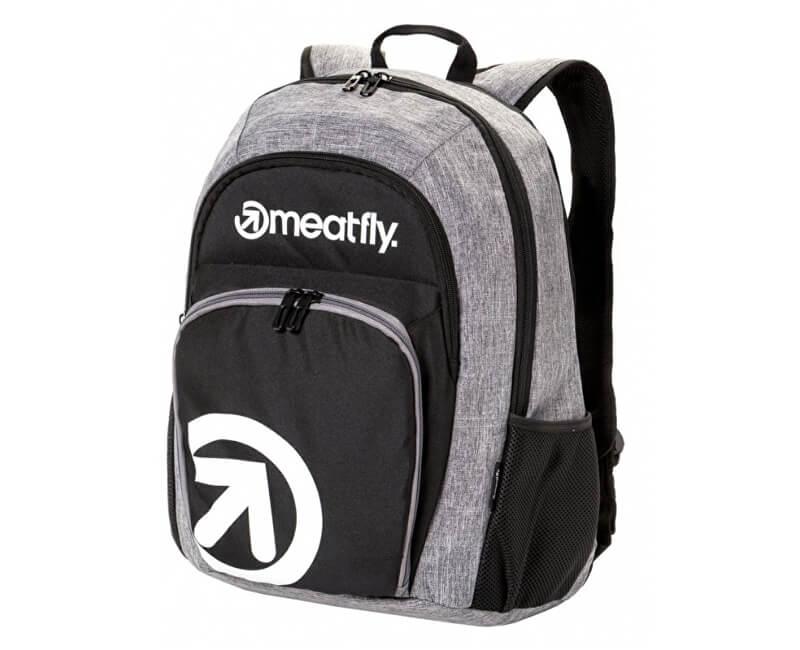 Meatfly Batoh Vault 2 Backpack A - Black, Heather Grey