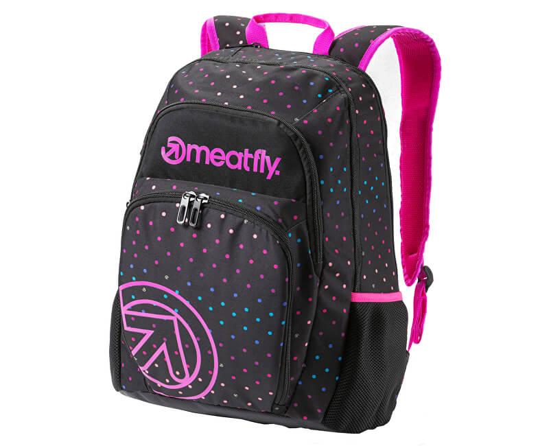 Meatfly Batoh Vault Backpack B - Rainbow Dot Black Print