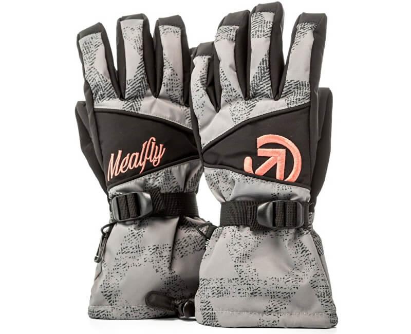 Meatfly Dámské prstové rukavice Destiny Gloves B - Grey Triangle Print