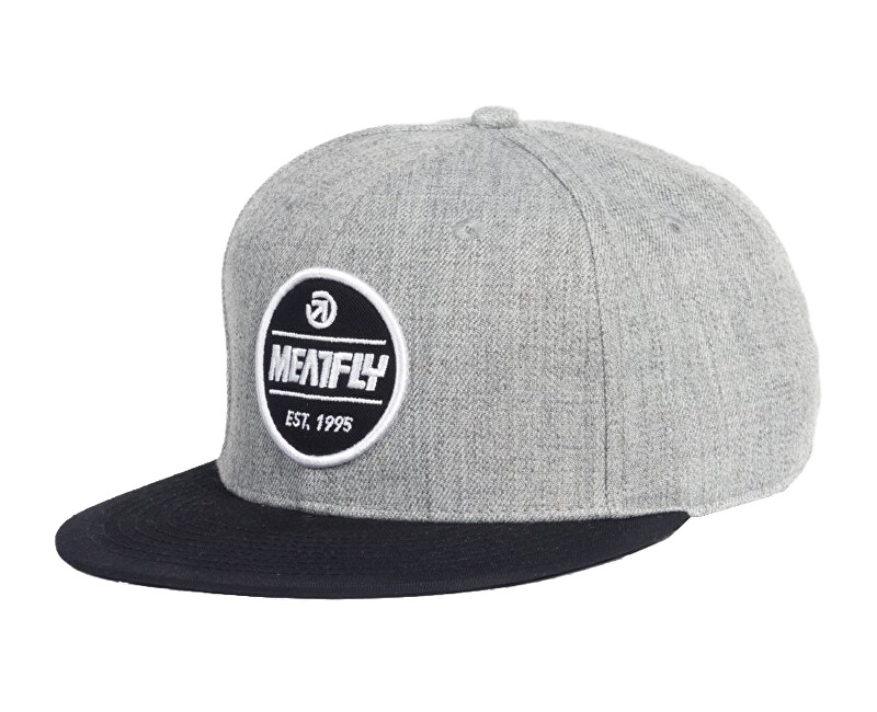 Meatfly Kšilt ovka Troop Snapback A Heather Grey