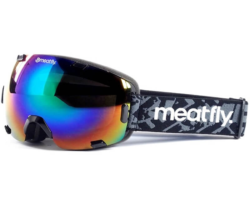 fd138a16f Meatfly Lyžiarske okuliare Scout 3 Goggles A - Black / Green chrome ...