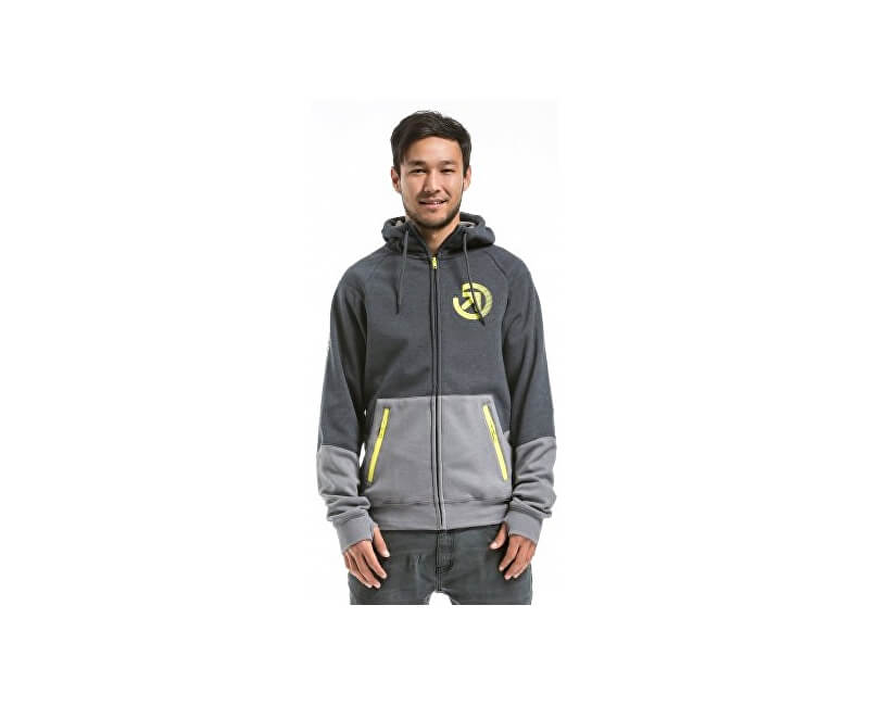 Meatfly Mikina Twitch 2 Technical Hoodie D - Charcoal Heather/Grey