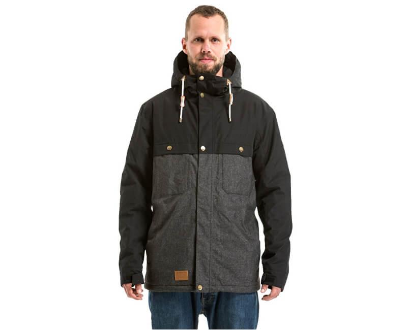 Meatfly Pánská bunda Dandy Jacket MNS Parka A - Black/Charcoal Heather