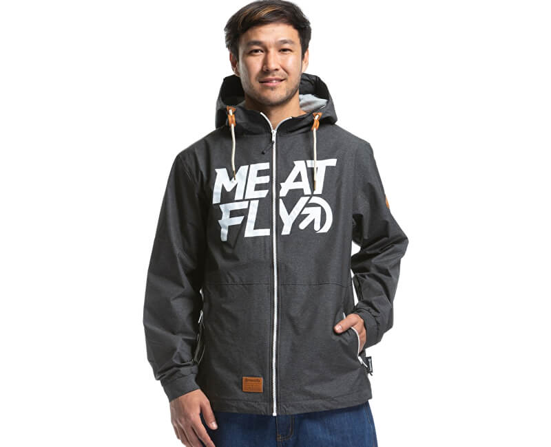 Meatfly Pánska bunda Finn 2 Windbreaker B-Heather Grey