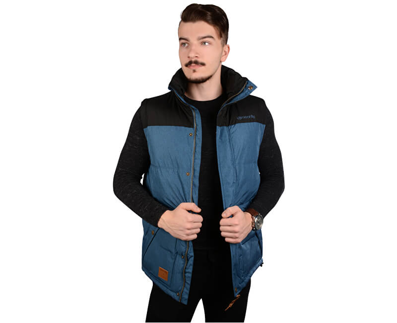Meatfly Pánská vesta West 2 Mns Vest A - Petrol Heather
