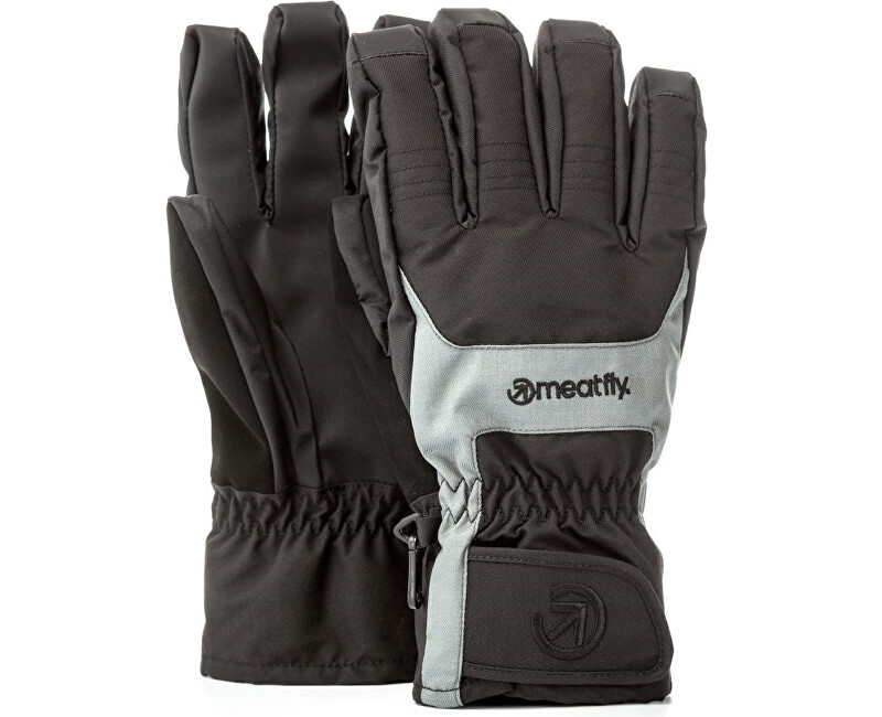 Meatfly Pánské prstové rukavice Cyclone Gloves B - Black/Grey