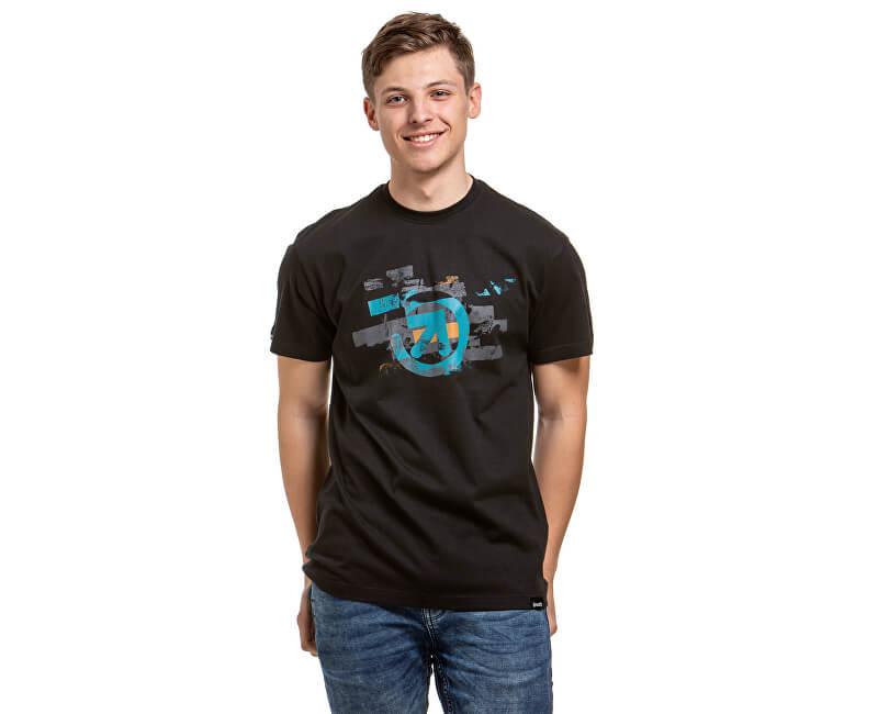 Meatfly Pánske tričko Bend A- Black