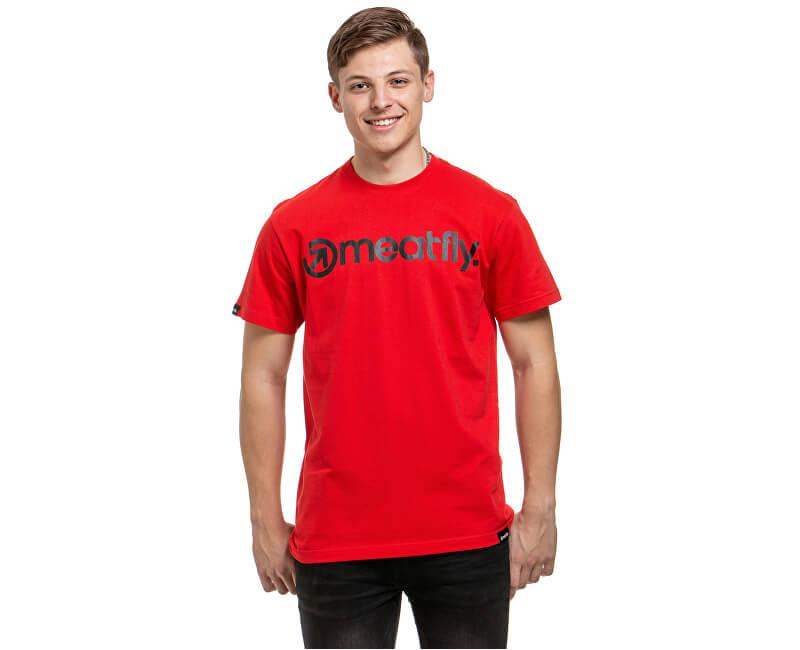 Meatfly Pánske tričko Logo G-Red