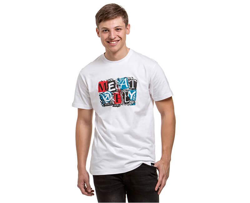 Meatfly Pánske tričko Montage C-White