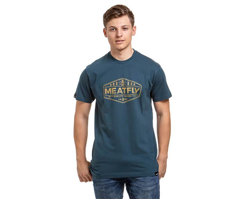 Meatfly Pánske tričko Patrol D-Dark Slate