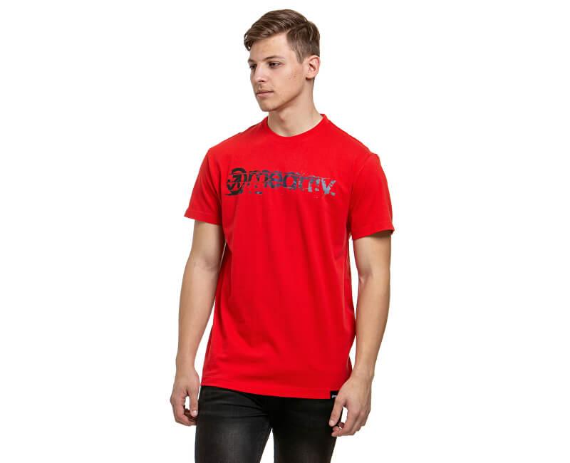 Meatfly Pánske tričko Raw C-Red