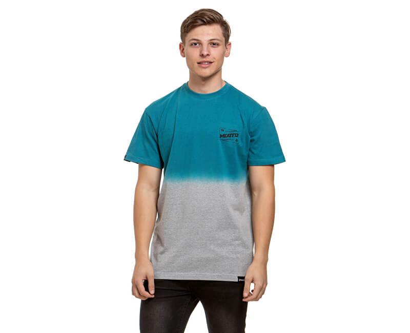 Meatfly Pánske tričko Slash D-Heather Grey