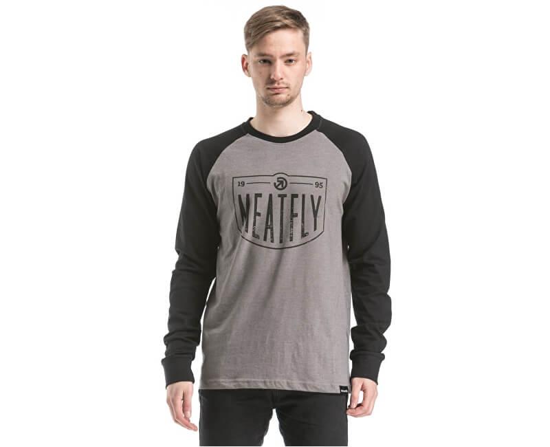 Meatfly Triko Rikker T-shirt B - Concrete Black