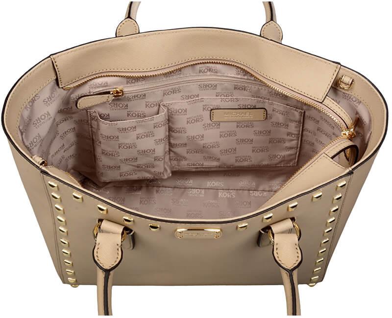 2adfea5959 Michael Kors Luxusná kožená kabelka Sandrine Stud Saffiano ...
