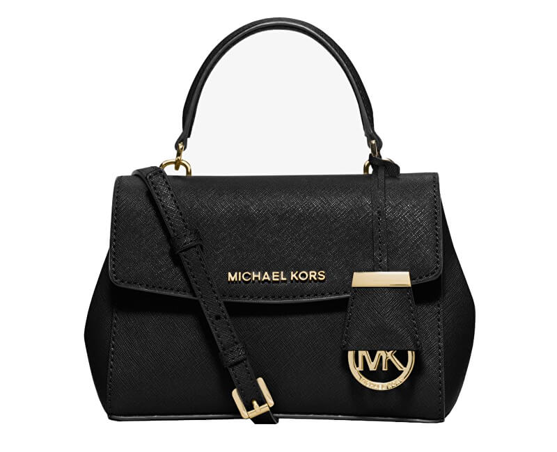 Michael Kors Elegant Ava Extra-Small Saffiano Leather Crossbody Bag Black