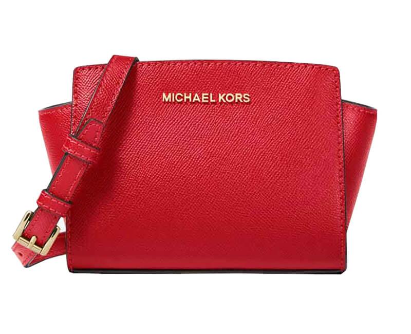 Michael Kors Geantă de mână Elegant Selma Mini Saffiano Leather Crossbody Bright Red