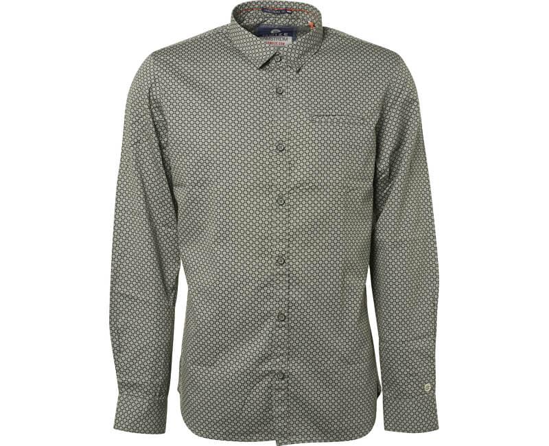 Noize Pánská košile Smoke Green 4746110-00-155 ... 977023d3fa