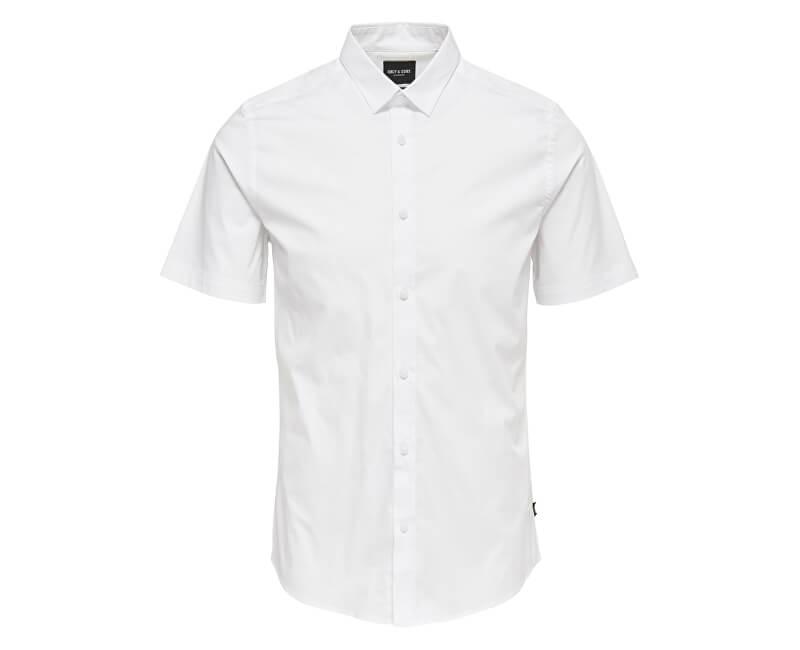 e01879f096c9 ONLY SONS Pánska košeľa Alfredo SS Shirt Noos White Novinka
