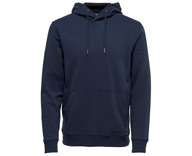 ONLY&SONS Pánska mikina Basic Sweat Zip Hoodie Brushed Noos Navy Blazer