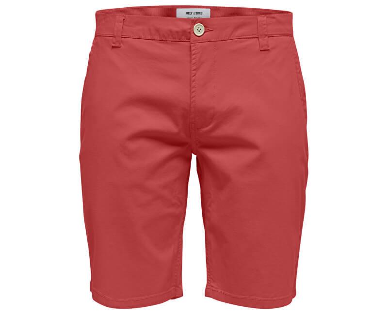ONLY&SONS Pánske kraťasy Cam Chino Shorts Entry Re Cranberry