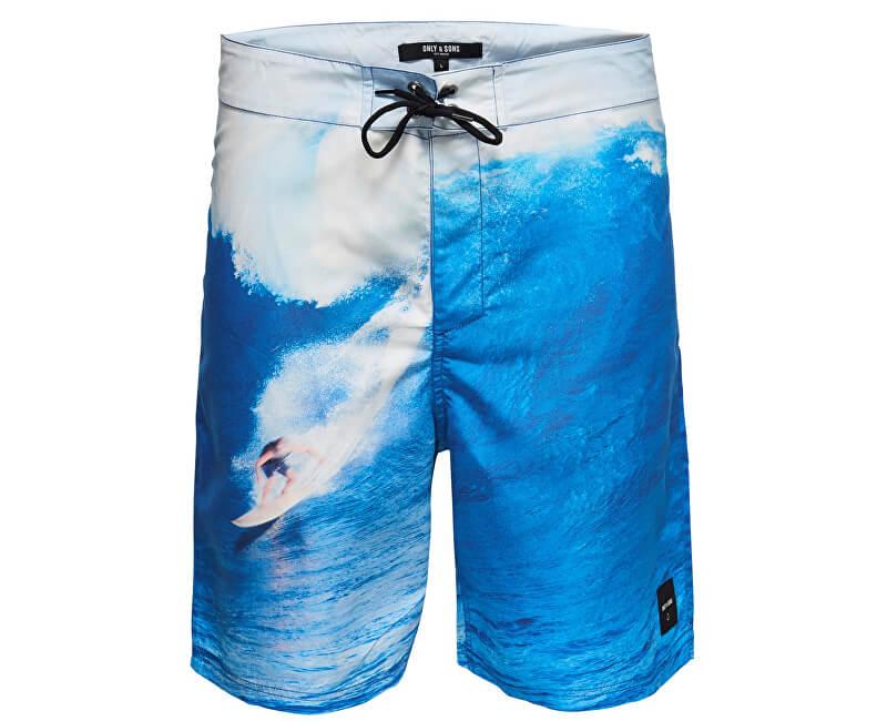 ONLY&SONS Pánske kraťasy Press Board Swimshorts Nt 2472 Dress Blues