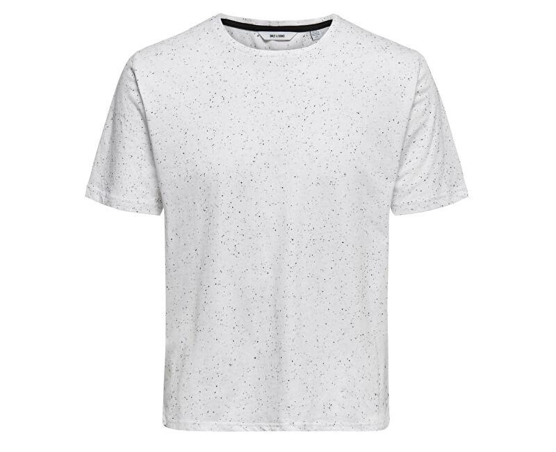 ONLY&SONS Pánske tričko Lars Ss Longy Napp Tee Bright White