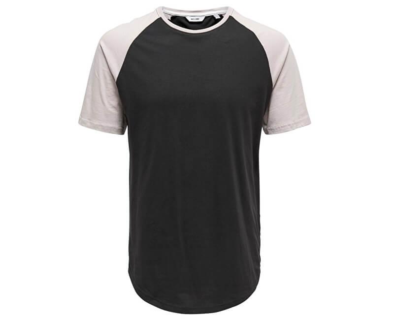 ONLY&SONS Pánske tričko Logan Raglan Longy Tee Black
