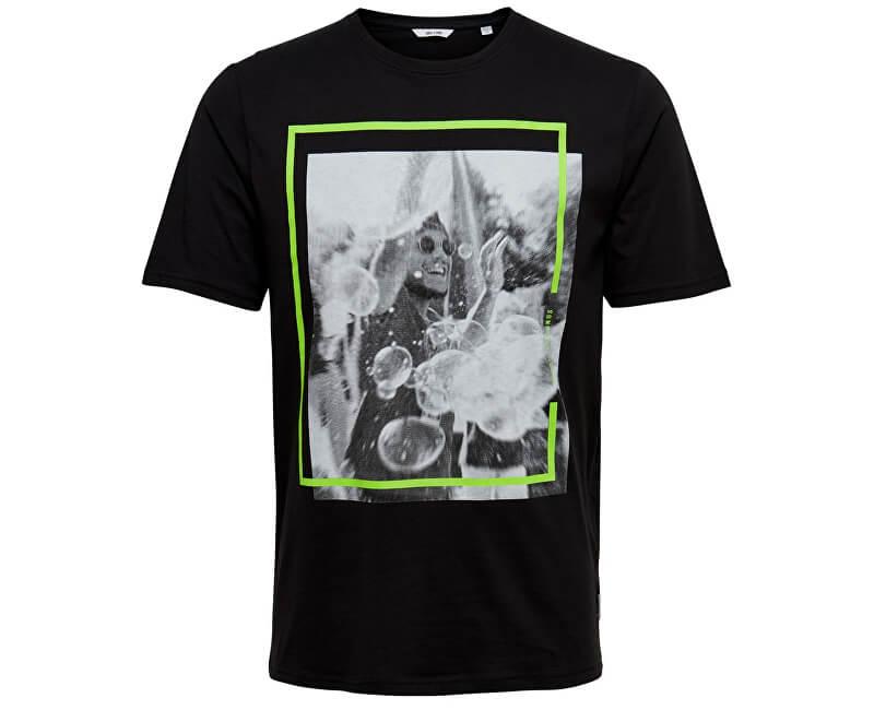 ONLY&SONS Pánske tričko Petal Ss Fitted Tee Camp Black