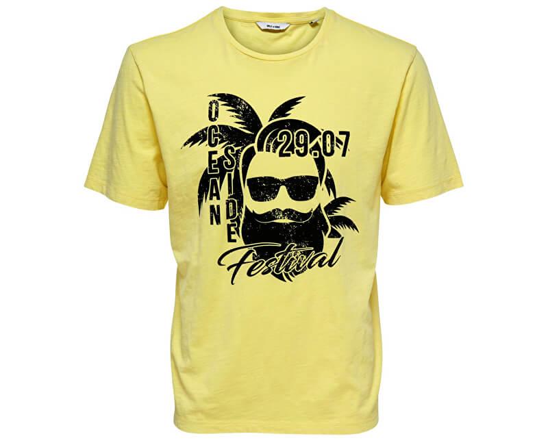 ONLY&SONS Pánske tričko Promto Ss Reg Tee Mellow Yellow