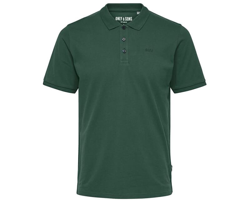 ONLY&SONS Pánske tričko Scott Pique Polo Noos Cilantro