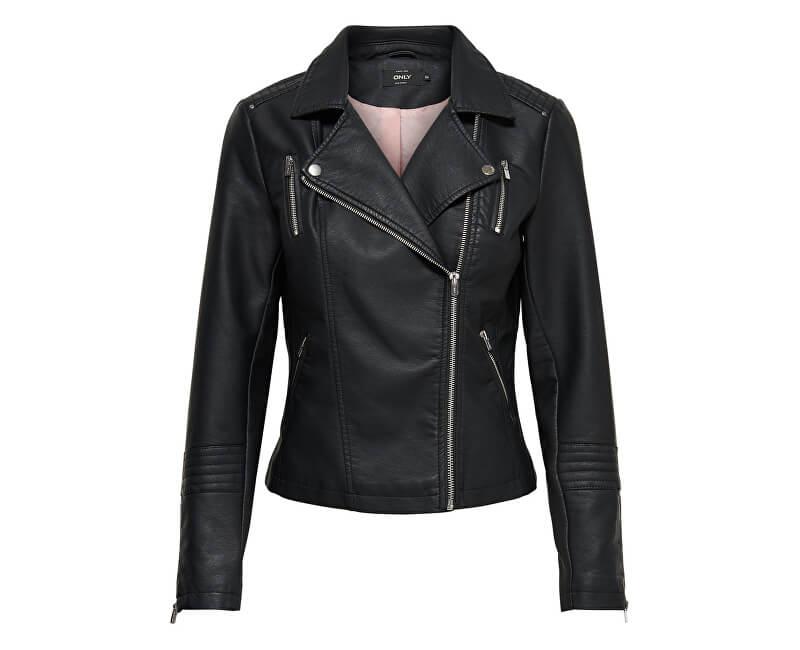 ONLY Dámská bunda Leather Look Jacket Black