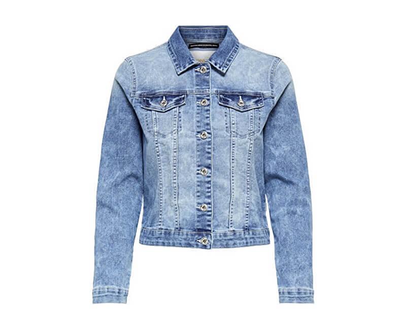 ONLY Dámská bunda New Chris Ls Dnm Jacket Bb Pim Wash B Light Blue Denim