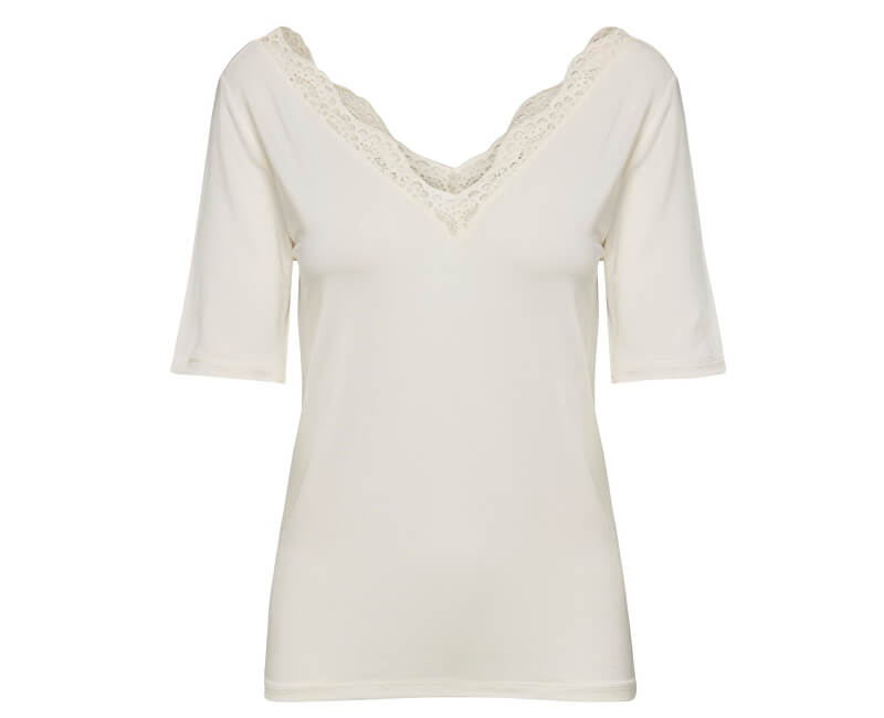 ONLY Dámska blúzka Femme S/S Top Jrs Cloud Dancer