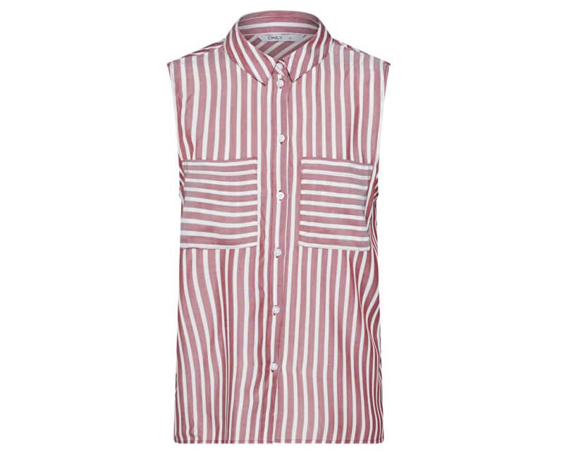 ONLY Dámska blúzka Kenza Sl Shirt Wvn Merlot