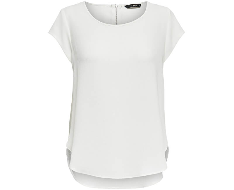 ONLY Dámska blúzka Vic S/S Solid Top Noos Wvn Cloud Dancer