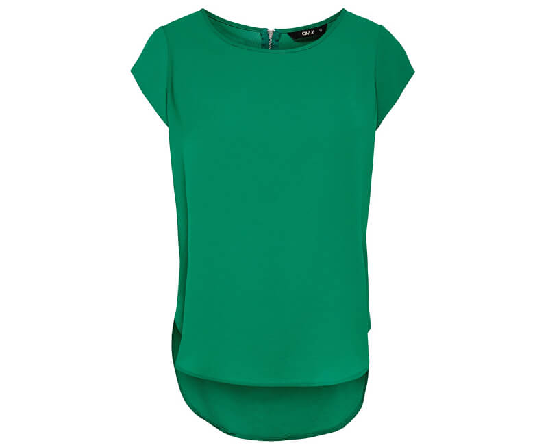 ONLY Dámska blúzka Vic S/S Solid Top Noos Wvn Ultramarine Green