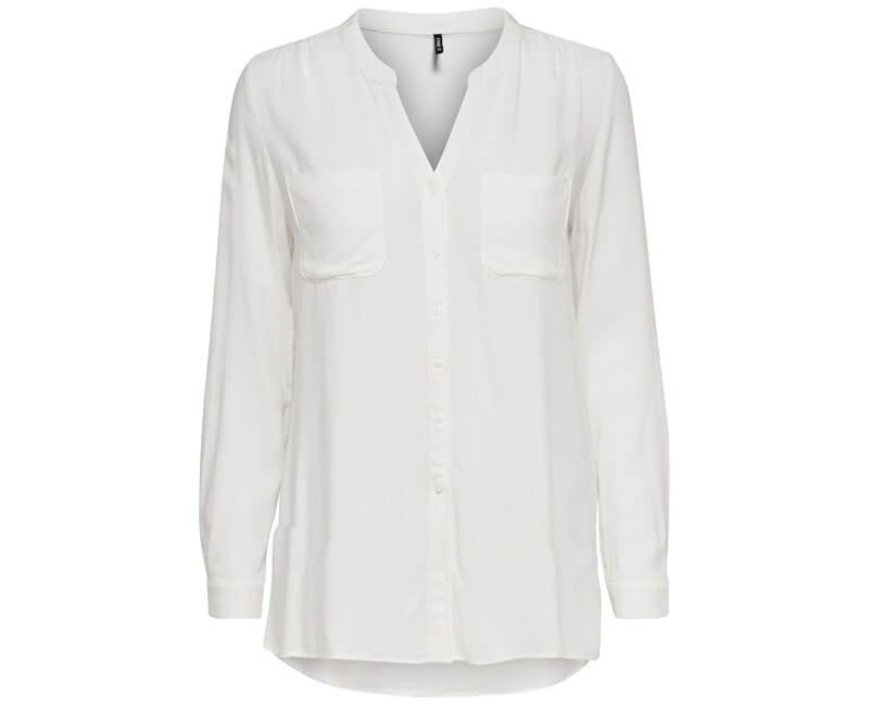 ONLY Dámska košeľa First LS Pocket Shirt Noosa Wvn Cloud Dancer