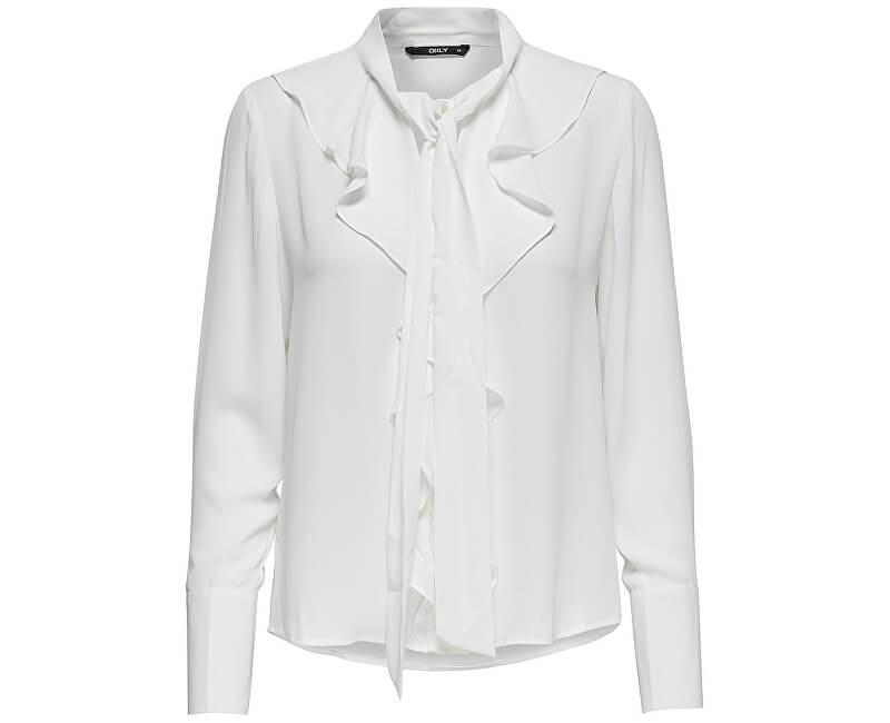 ONLY Dámská košile New Intu Ls Frill Shirt Wbn White