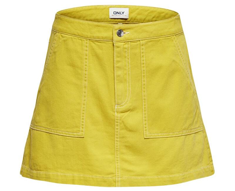 ONLY Dámska sukňa Amila Contrast Skirt Pnt Ceylon Yellow