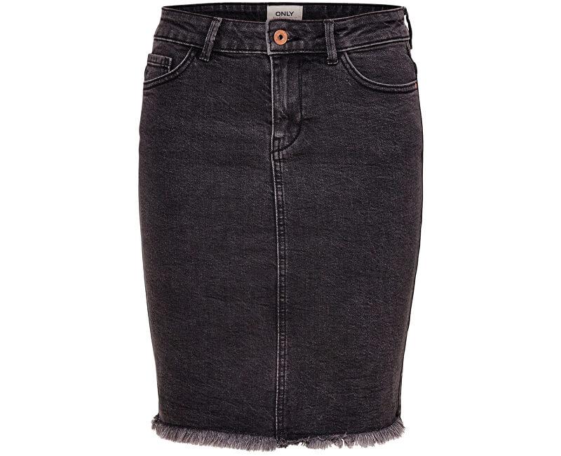 ONLY Dámska sukňa Lelila Reg Rawedge DNM Skirt 09Noos Medium Grey Denim