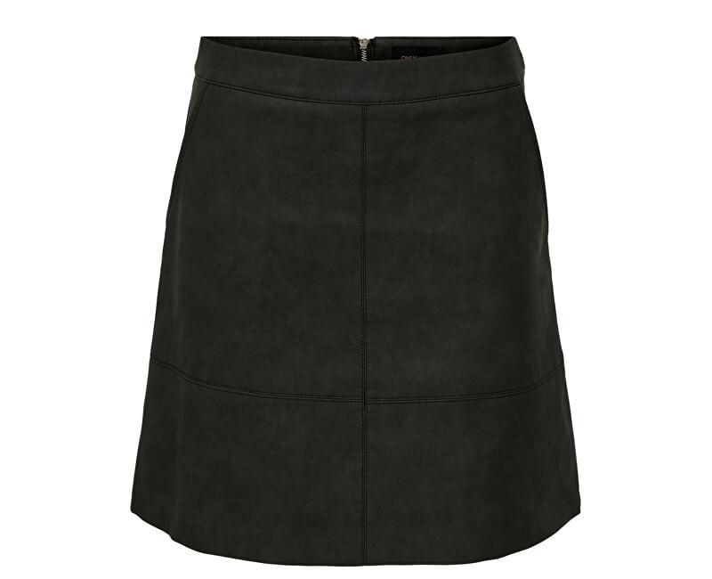 ONLY Dámska sukňa Nima Faux Leather Skirt Otw Black