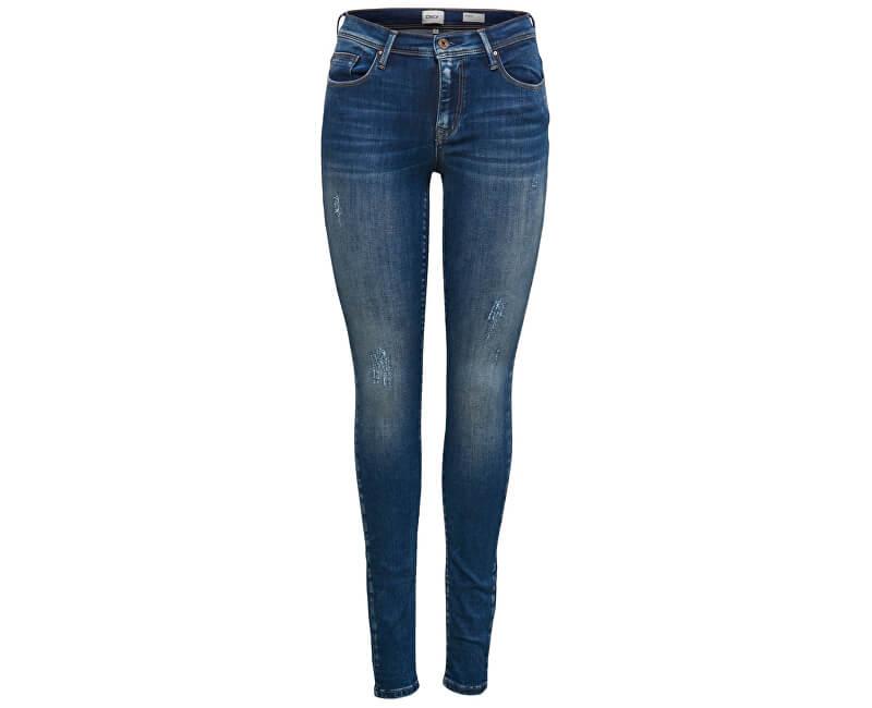 ONLY Dámske džínsy Shape Reg CZ DNM Jeans REA4488 Noosa Dark Blue Denim 32