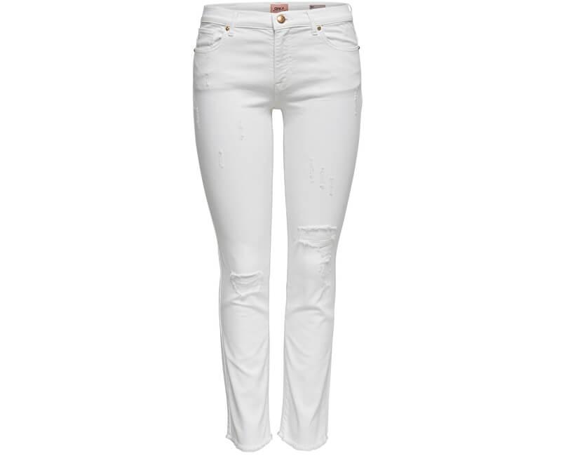 ONLY Dámske džínsy Sui Reg Slim White DNM Jeans