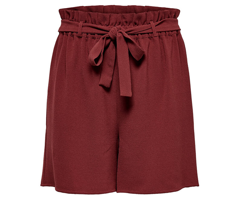 ONLY Dámske kraťasy Turner Paper Bag Shorts Wvn Noos Russet Brown