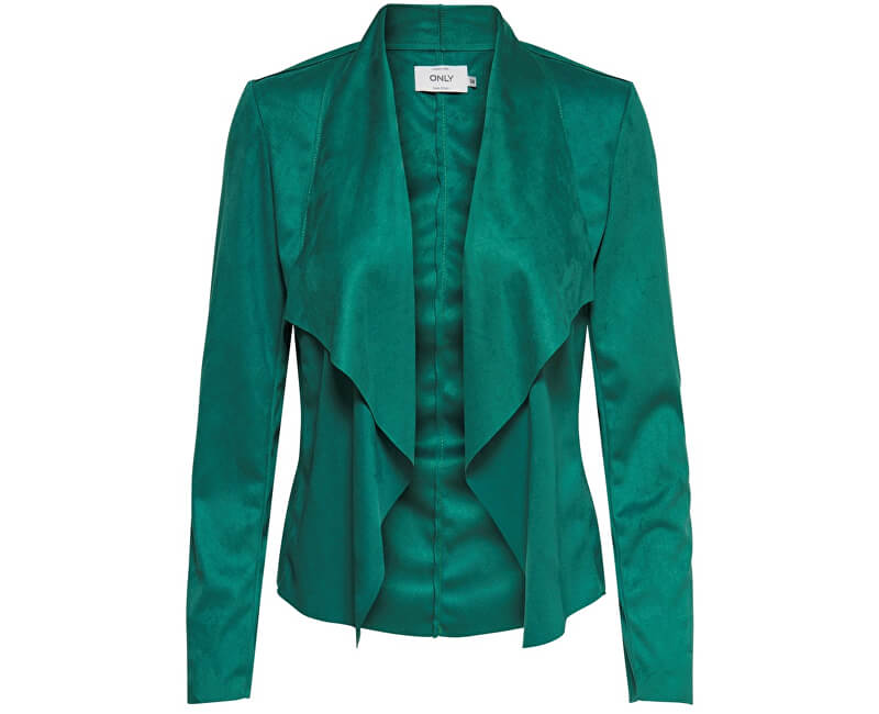 ONLY Dámske sako Fleur Drapy Faux Suede Jacket Cadmium Green