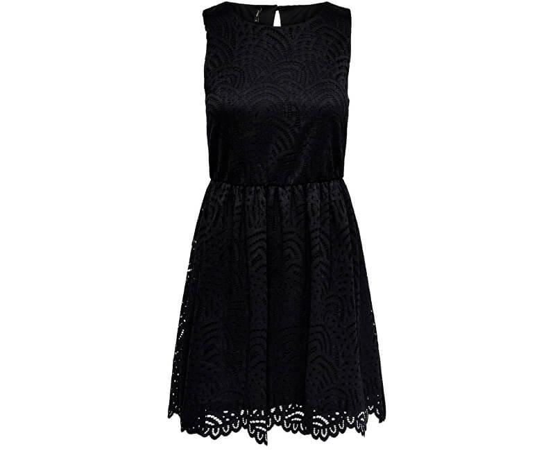 ONLY Dámske šaty Edith S/L Dress Jrs Noos Black